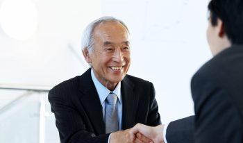 Handshake with business attire.