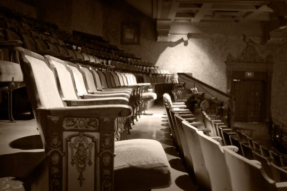 Auditorium seating in a theatre balcony