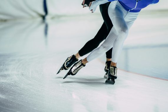 speed skaters on smooth ice